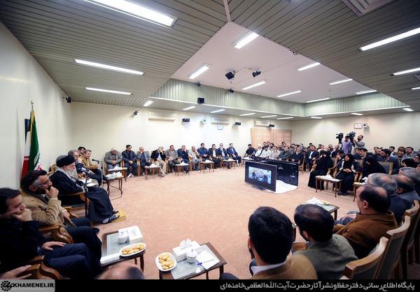 دیدار دستاندرکاران جشنواره عمار با رهبر انقلاب